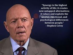synergy quotes - Google zoeken Stephen Covey Quotes, Together Quotes, Great Quotes, Psychology, Google, Life, Image, Gorgeous Quotes, Psicologia