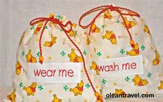 Travel lingerie bags - winnie the pooh - http://oleantravel.com/travel-lingerie-bags-winnie-the-pooh