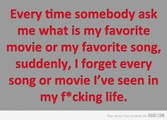 Omg, story of my life!! I always tell people I don't have favorites just for this reason, lol.