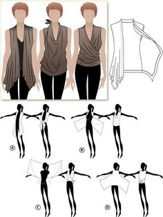 DIY Clothing Ideas that focus on Refashion and we made sure we included the picture instructions so you know exactly how it's done. Share your refashion projects in the comments below. Diy Clothes Refashion, Diy Clothing, Sewing Clothes, Clothing Patterns, Sewing Patterns, Diy Clothes Tops, Closet Clothing, Look Fashion, Diy Fashion