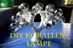 #DIY Korallenlampe / DIY coral #lamp with an easy #tutorial for beginners - by #duftundliebe