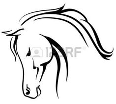 18545935-clip-art-arabian-horse-stylised-head.jpg (350×312)