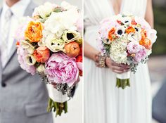 LOVE the flowers! Shower? Rehearsal dinner? #color #bouquet