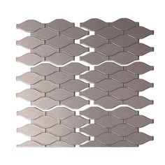 Aspect 4 X 6 Metal Peel Stick Field Tile Kit In Brushed Stainless