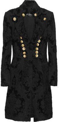 ShopStyle: Balmain Button-embellished brocade coat