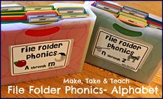 File Folder Phonics! Hands on activities for teaching letters and sounds.