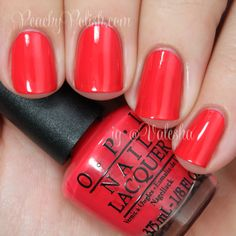 "OPI ""Cajun Shrimp"" is a sublime balance of red, pink and orange that goes with everything."