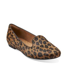 Valley Lounge in Tan Leopard - Womens Shoes from Clarks