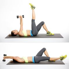 This move challenges both the lower and upper abs to maintain torso stability while your arms and legs move...