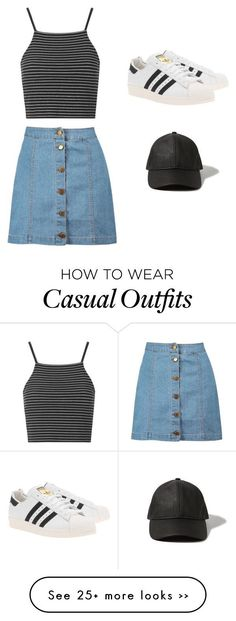 Casual Sporty by kleebee123 on Polyvore featuring Boohoo, adidas Originals, Topshop and Abercrombie Fitch