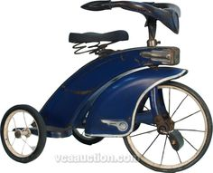 Vintage Steel Craft c1930's Blue Art Deco Tricycle