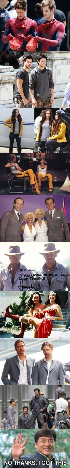 Celebs With Their Stunt Doubles http://ibeebz.com