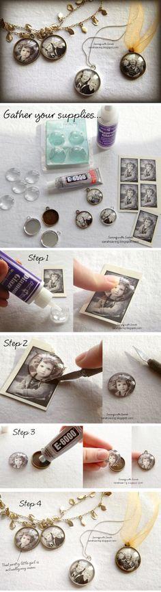 come creare pendenti d'epoca con le foto dei nostri cari #diy #tutorial