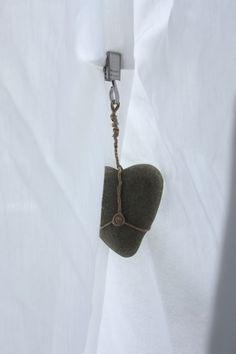 heart rock hanging