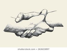 Vector Clipart of Holding Hands - Sketch illustration of two hands . Holding Hands Sketch, Hand Holding Tattoo, Tattoos Of Hands Holding, Drawing Sketches, Art Drawings, Sketches Of Hands, Fighting Drawing, Hand Kunst, People Holding Hands
