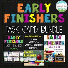 Are you prepared for early finishers!?  Check out these early finisher task cards to keep your students engaged.$