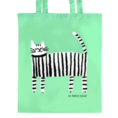 The Printed Peanut - Screen Printed Cat Tote Bag, £12.50 (http://www.theprintedpeanut.co.uk/screen-printed-cat-tote-bag/)