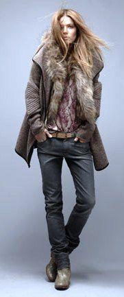 Zadig & Voltaire. elbows on jacket