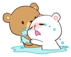 Bear Couple : Milk & Mocha sticker #12265829