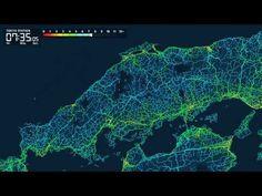 東京駅から日本全国への「到達所要時間マップ」 - Yahoo! JAPANビッグデータレポート - YouTube