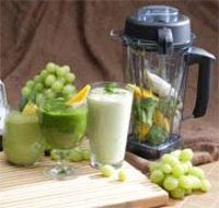 Vitamix - blend cucumber, celery, lettuce, mint, parsley, cilantro - and some blueberries for sweetness