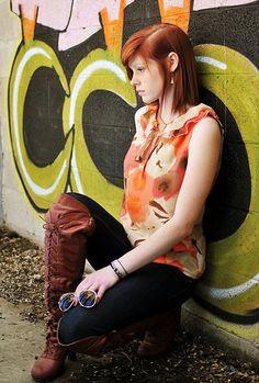 Sara Louise Graffiti photoshoot graffiti 12