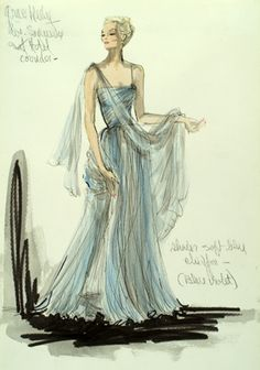 Edith Head- amazing costume designer... She has won so many awards but I love her sketches almost as much as her dresses