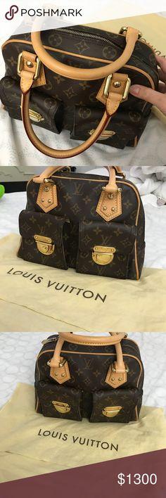 Louis vuitton manhattan brown satchel In very good condition  No box,dust bag only. Louis Vuitton Bags Satchels