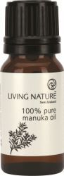 Living Nature 100% Pure Manuka Oil (Manuka Oil is known for its antimicrobial properties. Perfect for all skin types and acne prone skin.) Not very well known yet, but it is a miracle product! :)
