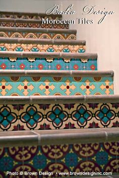 moroccan tile stairs am doing this to my place. Gonna be awesome!!!