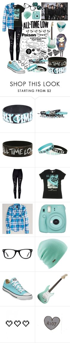 """""""All Time Low"""" by alice-killjoy01 ❤ liked on Polyvore featuring Hot Topic, WithChic, American Eagle Outfitters, Fujifilm, Muse, Coal, Converse and Retrò"""