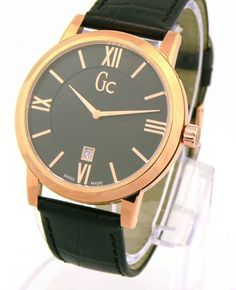 New GUESS Collection Men's Watch BLACK DIAL ROSE GOLD X60005G2S Swiss Made #GUESSCOLLECTION #Dress