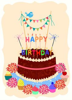 Birthday Cake with Candles | Elisandra aka Sevenstar | Flickr