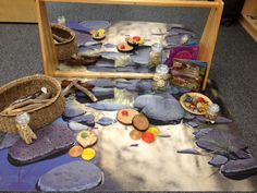 """Natural pond environment made by Kaylee Moncrieff, shared by Wagga Wagga Early Years Learning Centre ("""",)"""