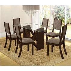 Conjunto Mesa Luiza e 6 Cadeiras Kiara