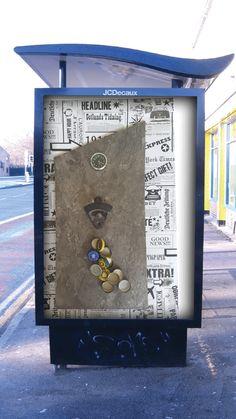 Bieröffner mit Magnet und Edelstahluhr  25/42 cm Frame, Home Decor, Magnets, Beer, Steel, Tag Watches, Picture Frame, Frames, A Frame