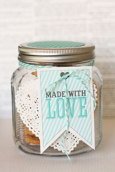 Fun made with love printable! Perfect for Valentine's Day cookies!