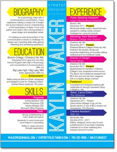 CV/Resume - kaylin walker
