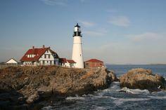 8. Portland Headlight located on Cape Elizabeth, Maine