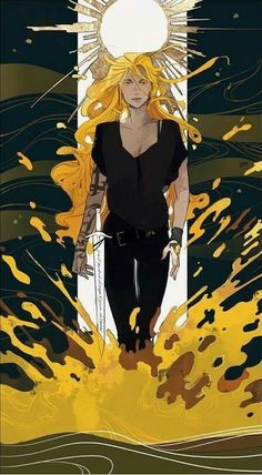 """""""It was half-finished, an image of Emma striding out of the ocean, Cortana strapped to her hip. Her hair was down, as it was in most of the pictures, and he had made it look like the spray of the ocean at sunset, when the last rays of daylight turned the water to a brutal gold. She looked beautiful, fierce, as terrible as a goddess."""""""
