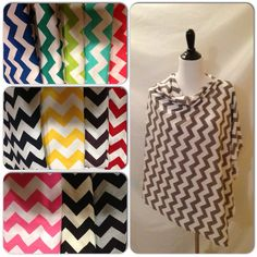 Chevron Breastfeeding Cover- this cover comes in 13 different chevron colors on Etsy, $19.00