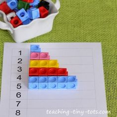 Snap Cubes With Activities to Reinforce Counting, Patterns, Addition and Subtraction
