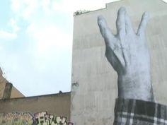 RAW VIDEO: French Graffiti Artist JR at Work in Berlin