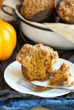Cream Cheese Streusel Pumpkin Muffins - I used Nilla Waffers in place of the Biscoff cookies.  Made on 11/3/13.