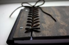 www.rusticengravings.com  Rustic Wedding Guest Book, Custom Personalized Wooden Book W/ Leather Spine & Braided Leather Hinge, Wood Journal, Wedding Album, Sketchbook