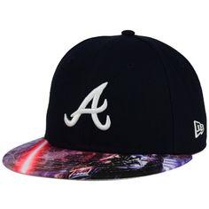 cec34337d7f New Era Atlanta Braves Mlb x Star Wars Viza Print 59FIFTY Cap ( 38) ❤ liked  on Polyvore featuring men s fashion