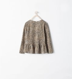 Image 2 of STUDDED T-SHIRT WITH FLOUNCE from Zara