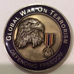 Global War on Terrorism Challenge Coin BRASS