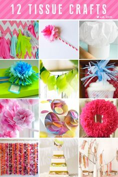 DIY tissue paper crafts inspiring ideas for projects with tissue