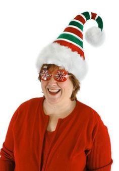 Amazon.com: Elope 34251 Ridged Santa Hat: Clothing